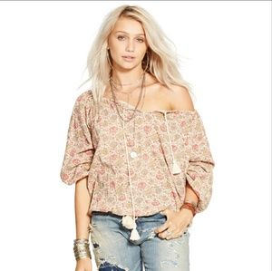 Ralph Lauren Denim and Supply Boho tie top NWT M